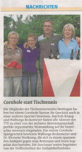 Cornhole Turnier in Mettingen